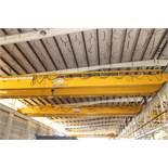 Overhead Bridge Crane, Zenar 20 ton cap. with 5 ton aux. x 80' span, pendant control, dual box beam