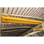 "Overhead Bridge Crane, Shaw Box, 10 ton cap. x 71'4"" span, pendant control, dual box beam, top"