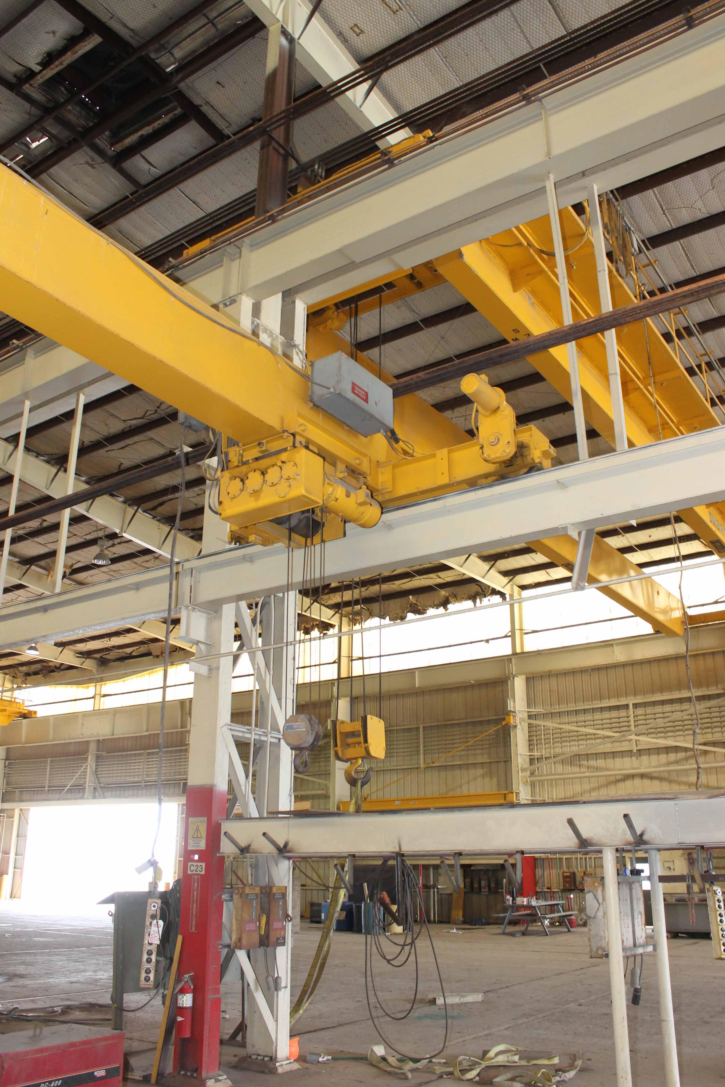 """Lot 8 - Single Leg Gantry Crane system, OMI 5 ton x 46'-5-3/4"""" span, approx. 15' under rail,"""