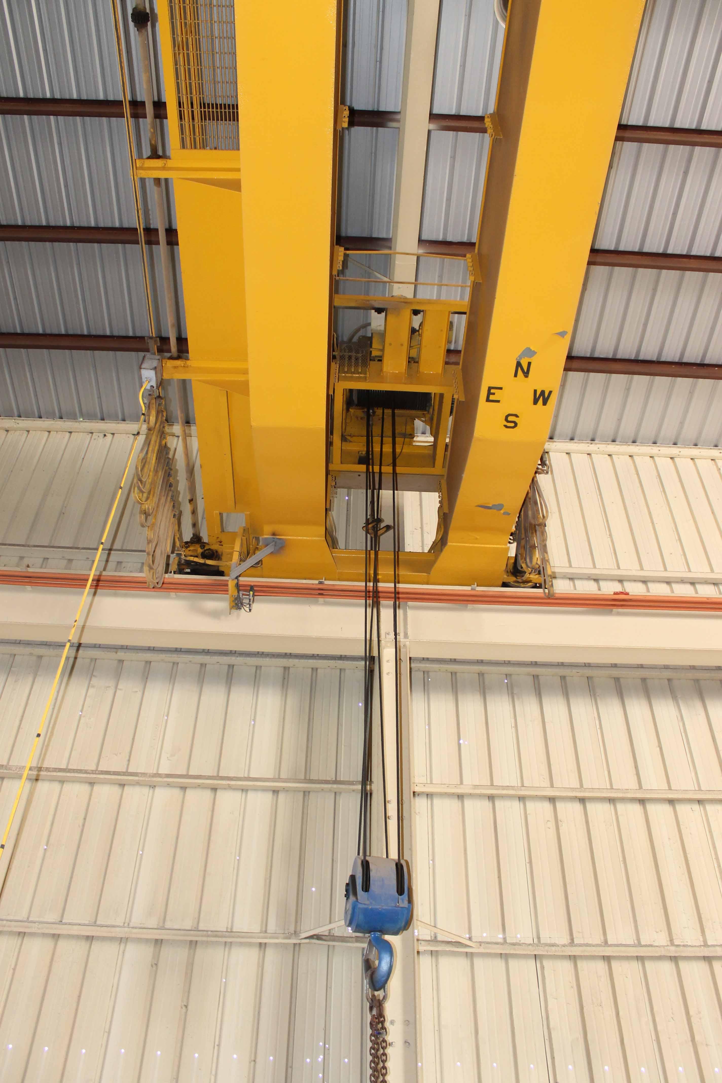"Lot 11 - Overhead Bridge Crane, Gaffey 20 ton cap., x 73'-11-1/4"" span, dual box beam, top riding, pendant"