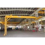 "Single Leg Gantry Crane system, OMI 5 ton x 46'-5-3/4"" span, approx. 15' under rail,"