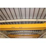 "Overhead Bridge Crane, Gaffey 20 ton cap., x 73'-11-1/4"" span, dual box beam, top riding, pendant"