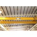 "Overhead Bridge Crane, Landel 20 ton cap. with 5 ton aux. x 71'4"" span, pendant control, dual box"