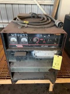 Lot 33 - Welding Power Source, Lincoln Mdl. DC600 S/N U1010900391