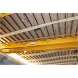 Overhead Bridge Crane, Zenar 20 ton cap. with 5 ton aux. x 80' span, pendant control, dual box beam,