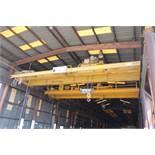 "Overhead Bridge Crane, Landel 20 ton cap. x 44'-7-1/2"" span, dual I-beam, top riding, pendant"