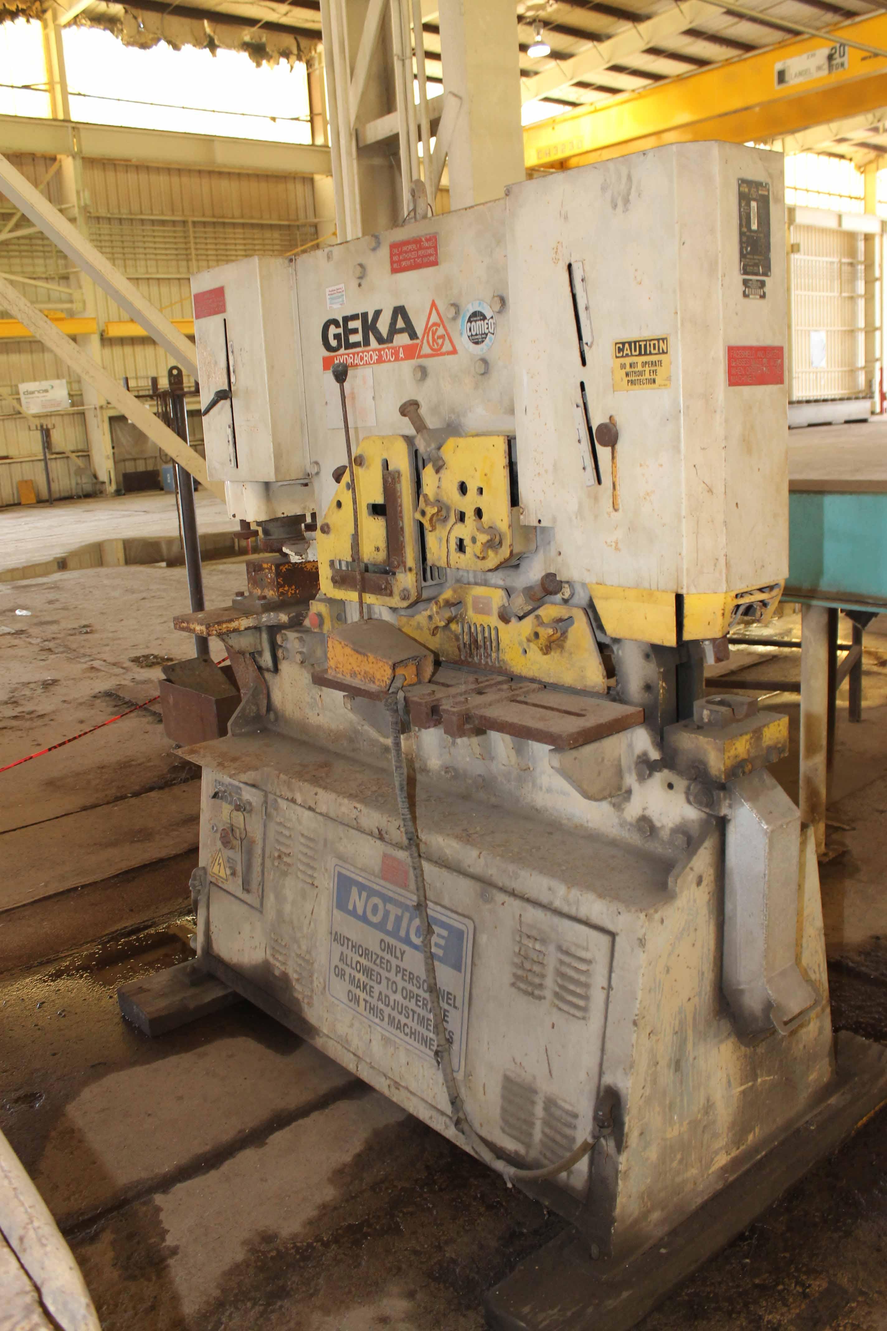 Lot 29 - Hydraulic Ironworker, Geka Mdl. Hydracrop 100/A, 100 ton punching cap., hydraulic (