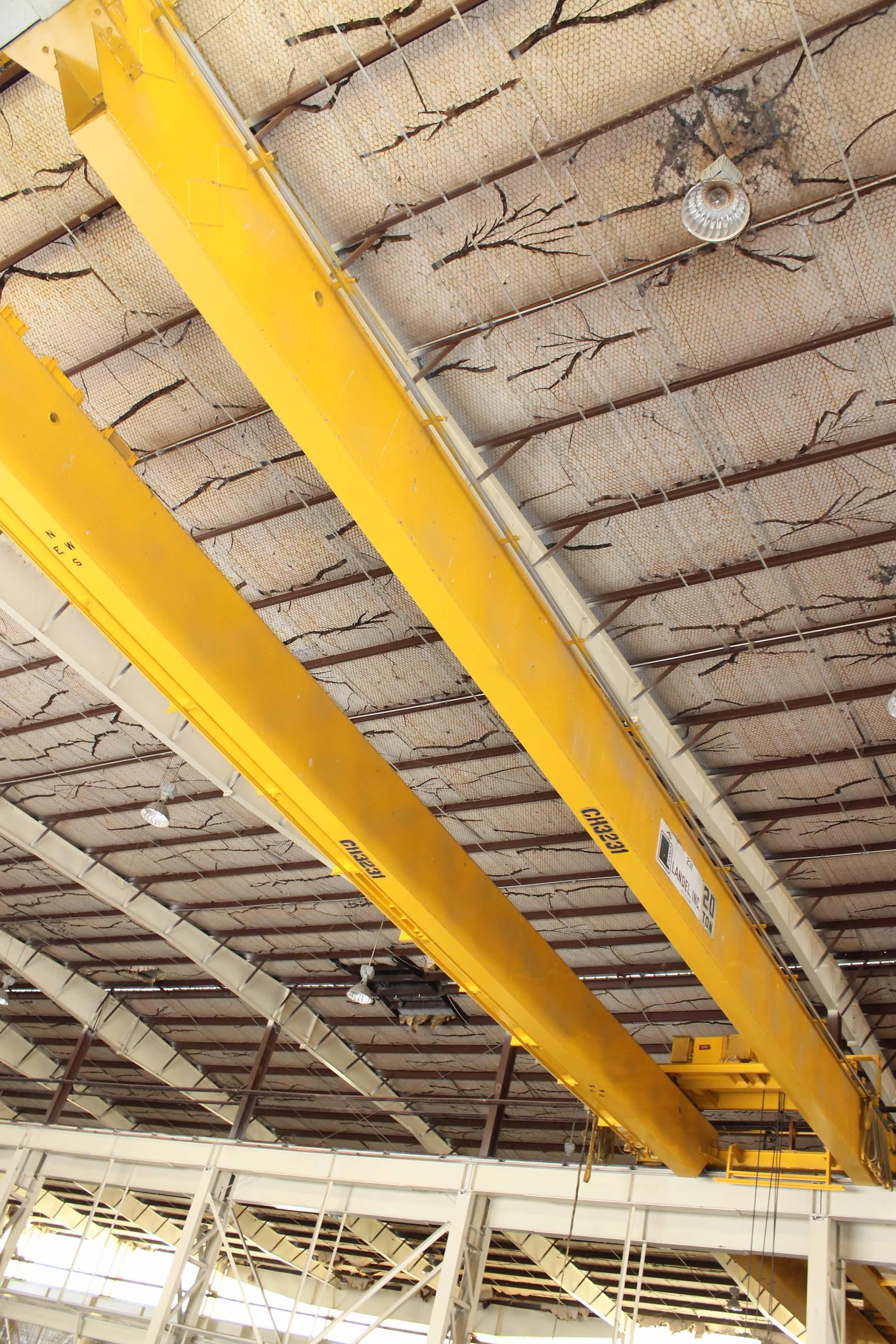 "Lot 14 - Overhead Bridge Crane, Landel 20 ton x 71'4"" span, pendant control, dual box beam, top riding (Asset"