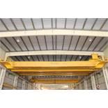 """Overhead Bridge Crane, Crane Mann 40 ton cap. x 73'-11-1/4""""span, dual box beam, top riding,"""