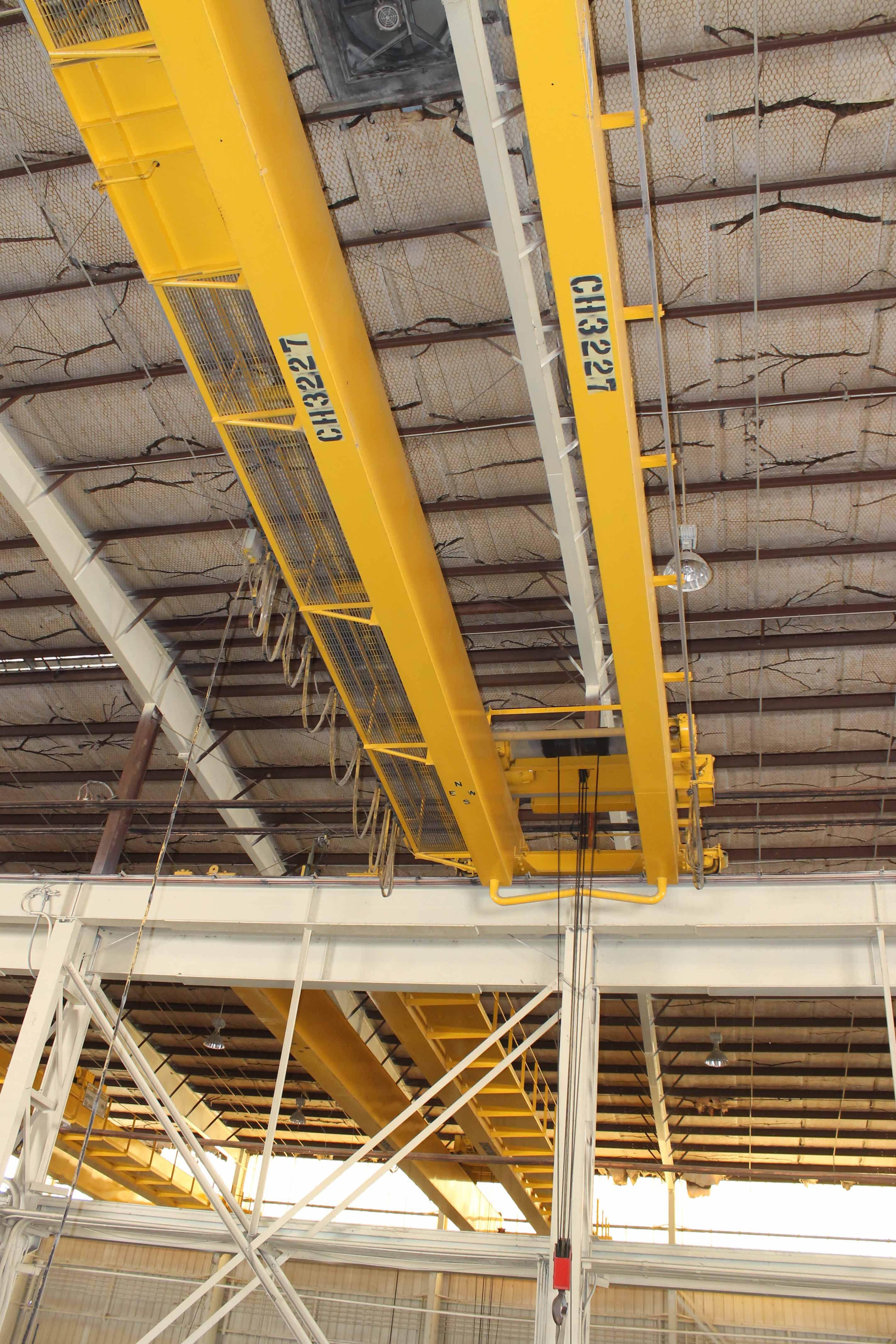 "Lot 15 - Overhead Bridge Crane, Shaw Box, 15 ton cap. X 71'4"" span, pendant control, dual box beam, top"