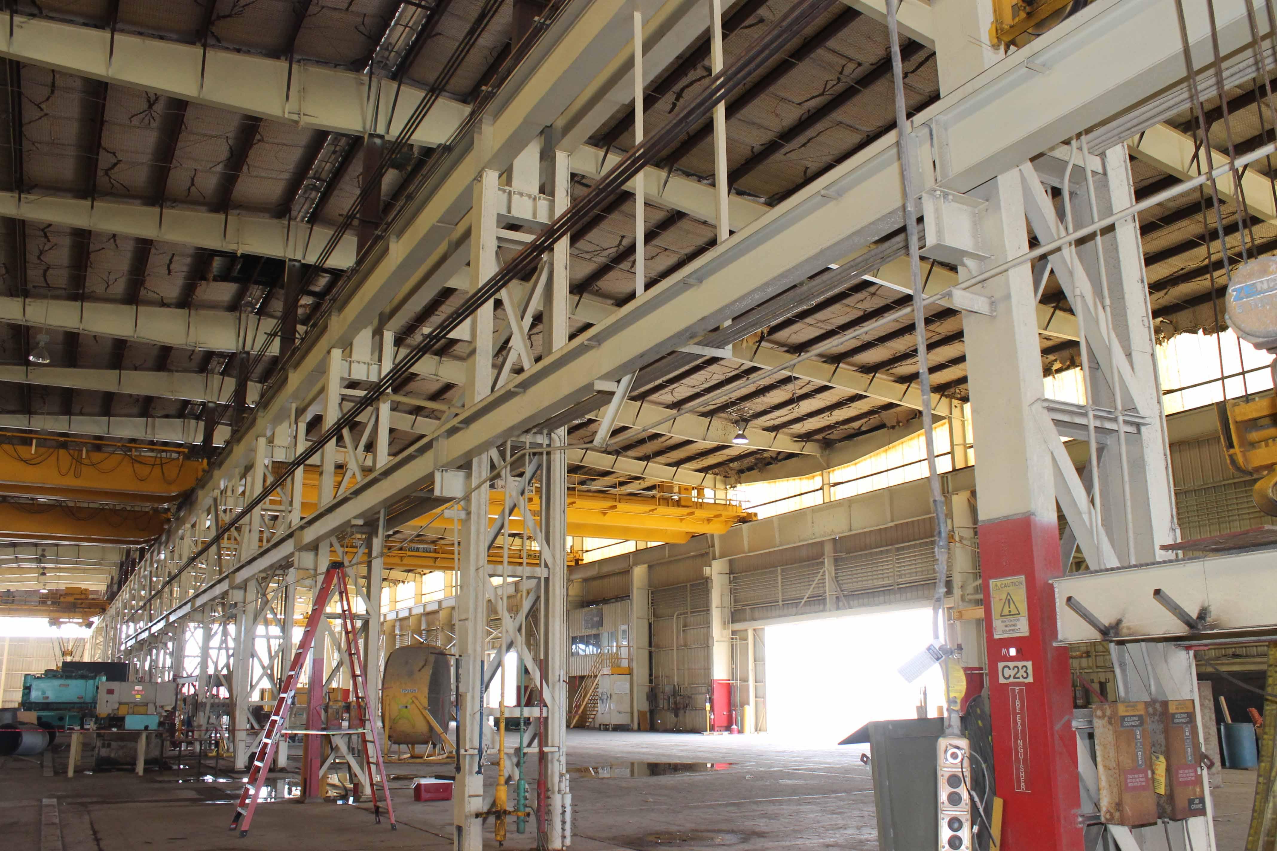 Lot 12 - Dual I-beam OH Crane Runway, approx 325', w/rail (Location: Pipe Shop)