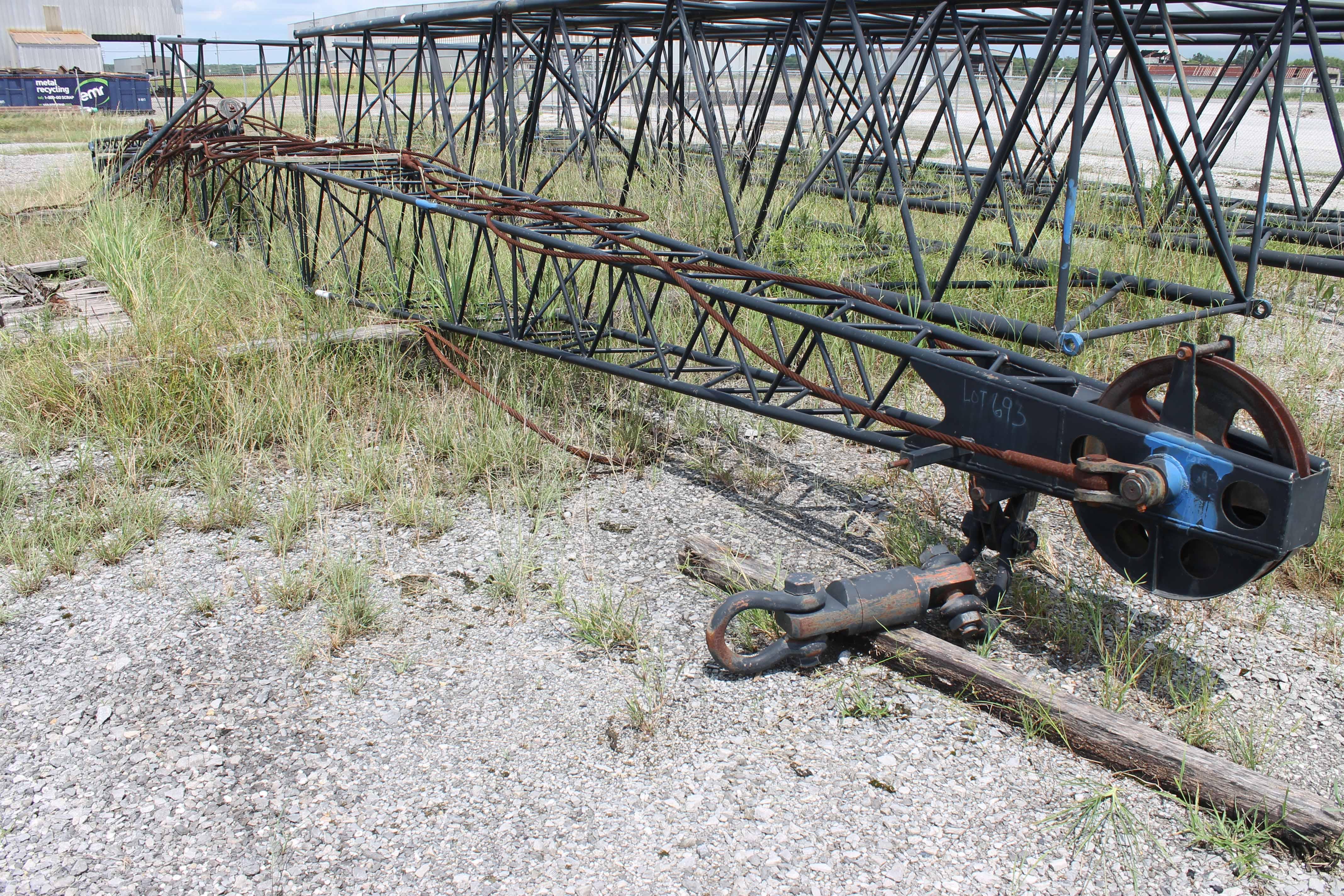 "Lot 3 - Fly Jib, for American Model 11250 ""Skyhorse"" type crawler crane. (Location: Yard)"