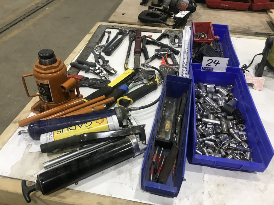 Lot 24 - STAPLERS & ASSORTED TOOLS