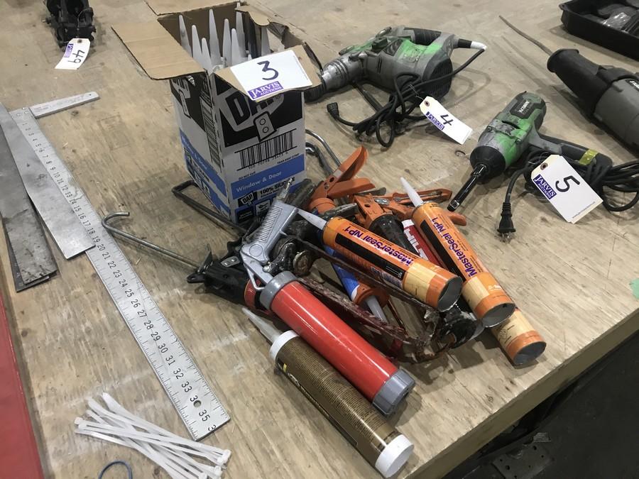 Lot 3 - CAULKING GUNS & SUPPLIES