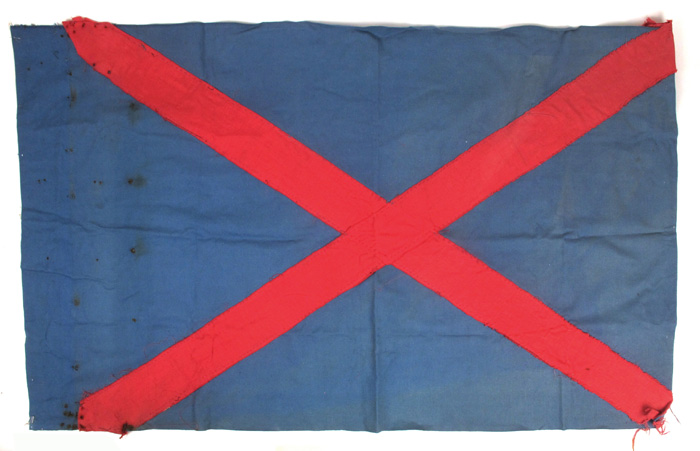 Lot 296 - 1930s A flag of the Army Comrades Association or 'Blueshirts'. A cotton flag, the blue background
