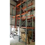 Pallet Racking; three levels by three pallets deep each; 9 sections (Located Elk Grove, IL)
