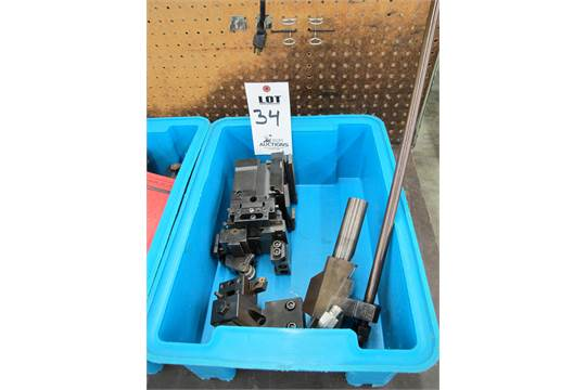 LOT TO INCLUDE: NEW MARKET SHAVE TOOL HOLDER, TURNING TOOL