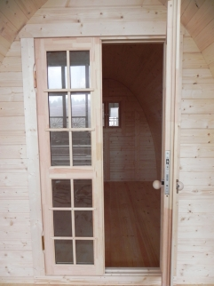 Lot 30295 - V Brand New 4 x 2.4m Camping Pod Made from Spruce - Double doors with Lock and Double Glass