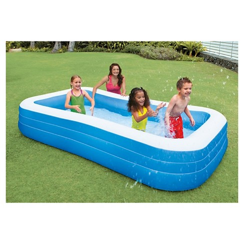 Lot 30654 - V Brand New Jumbo 3m Heavy Quality Jumbo Oblong Pool 120 x 72 x 22 inches - eBay Price £56.09