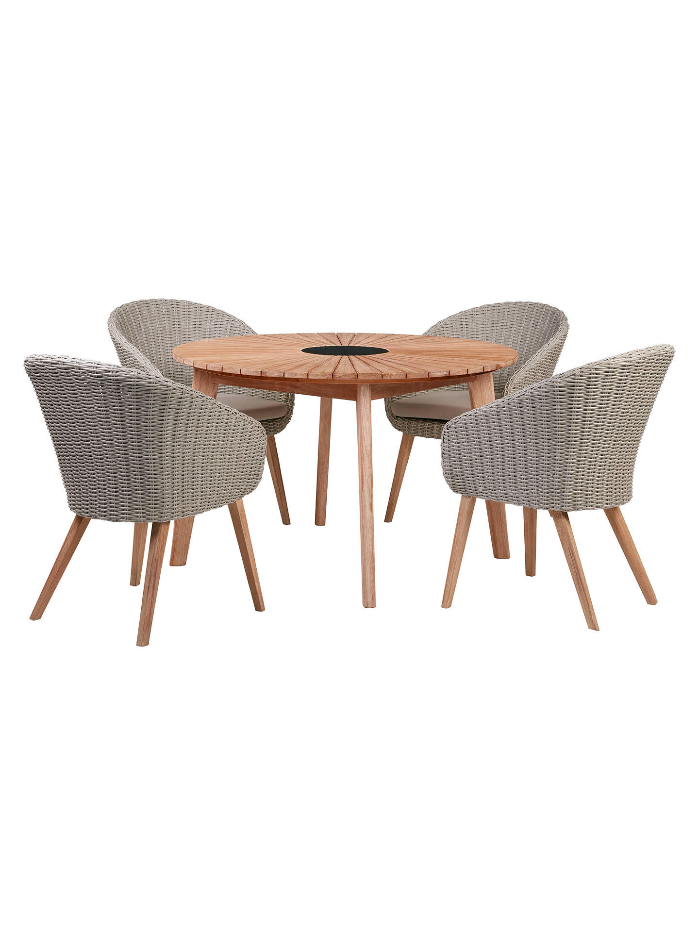 Lot 30340 - V Brand New To John Lewis Sol Four Seater Round Garden Table & Chairs ISP £999 (John Lewis) Stock