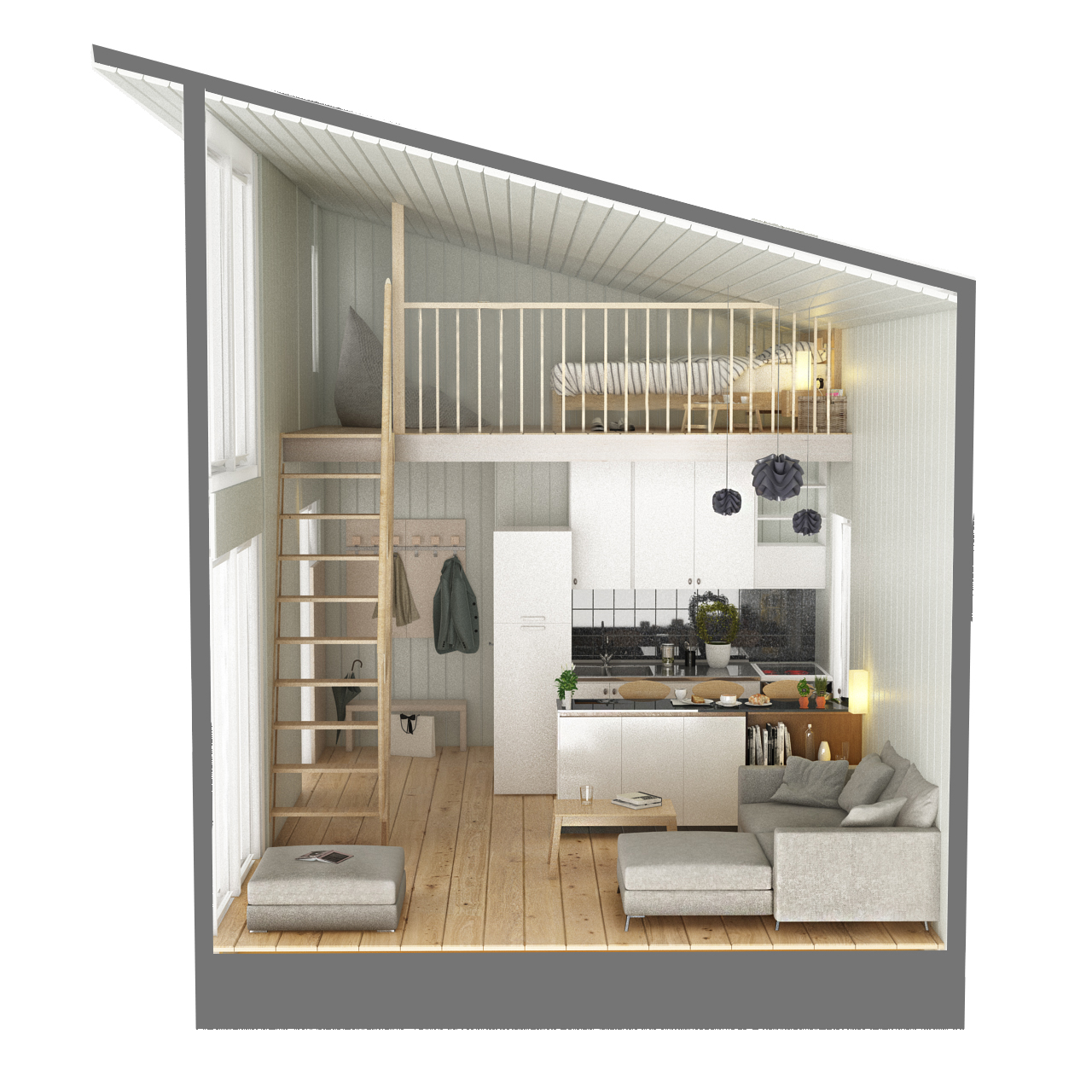 Lot 30205 - V Brand New Loft House - Insulated Roof Panels - Wooden Floor - 10 Wooden Tempered Glass Walls -