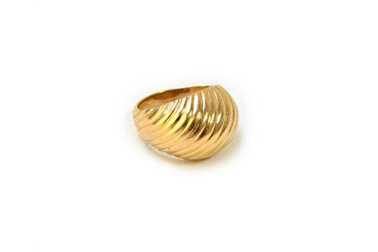 A Tiffany Amp Co Gold Ring In A Bombe Design Having Fluted