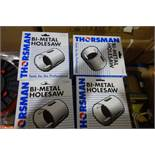 10 X Thorsman 111MM BI-Metal Hole Saws Suitable For Mild Steel Bronze Stainless Steel Brass Cast