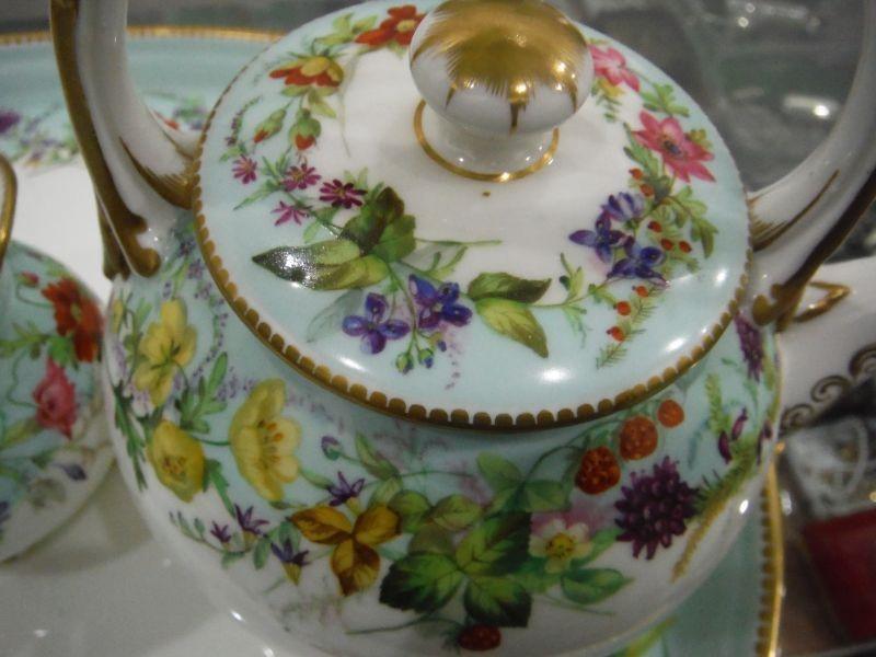 Lot 52 - Grainger & Co Worcester porcelain early morning tea servicefor two persons, six pieces, viz:-