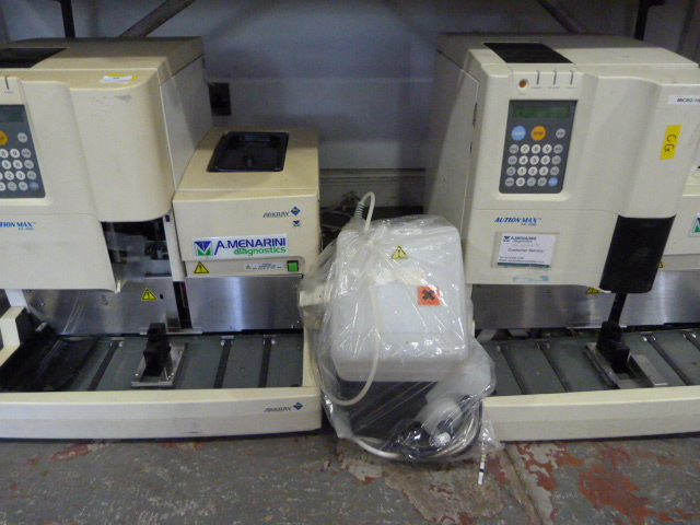 Lot 54 - *2x Aution Max AX-480 Urine Analysers (Powers Up but Appear To Be Incomplete and Requires Servicing)