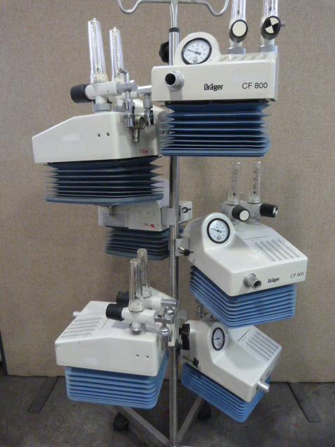 Lot 20 - *6 x Drager CF 800 Ventilators on Stand