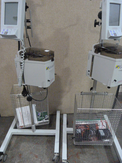 Lot 17 - *2x Hemonetics Orthopat Orthopedic Perioperative Autotransfusion Systems on Stand (Both Power Up)