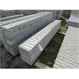 "(8) 12"" x 9' Corners Precise Concrete Forms, Textured Brick 8"" Hole Pattern, Located in Winterset,"