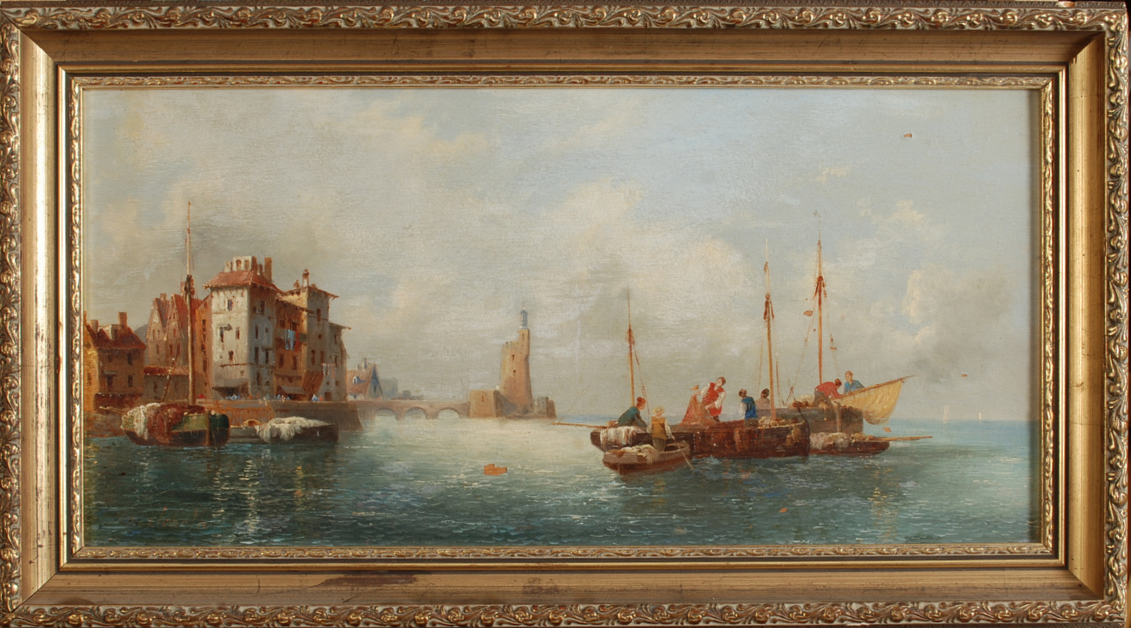 Lot 60 - ANTON SCHOTH Oil on panel Signed 23 x 45 cm Condition report: Condition report -