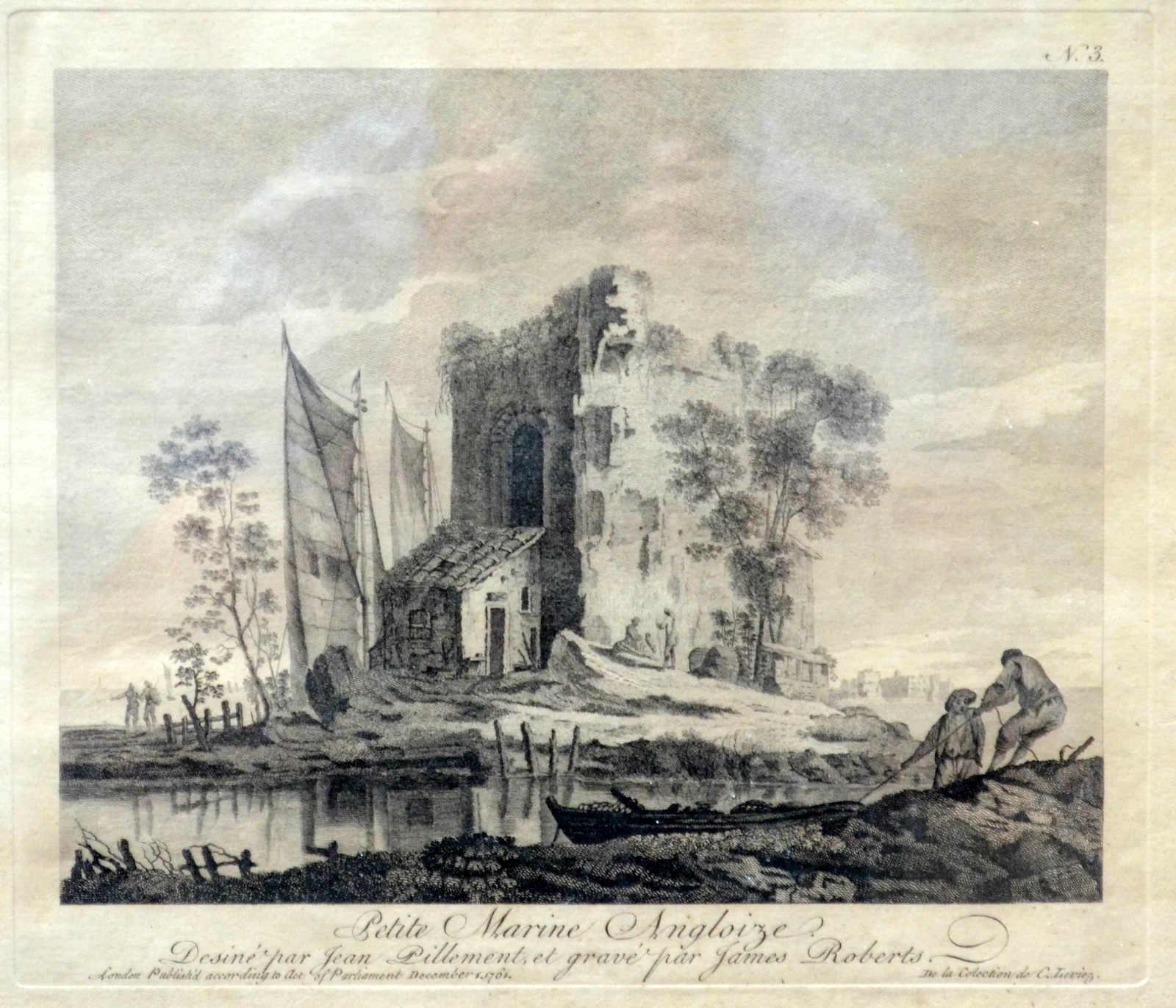 Lot 33 - PIERRE CHARLES CANOT Petite Marine Angloise Two engravings 27 x 30 cm (plate size) Plus a similar