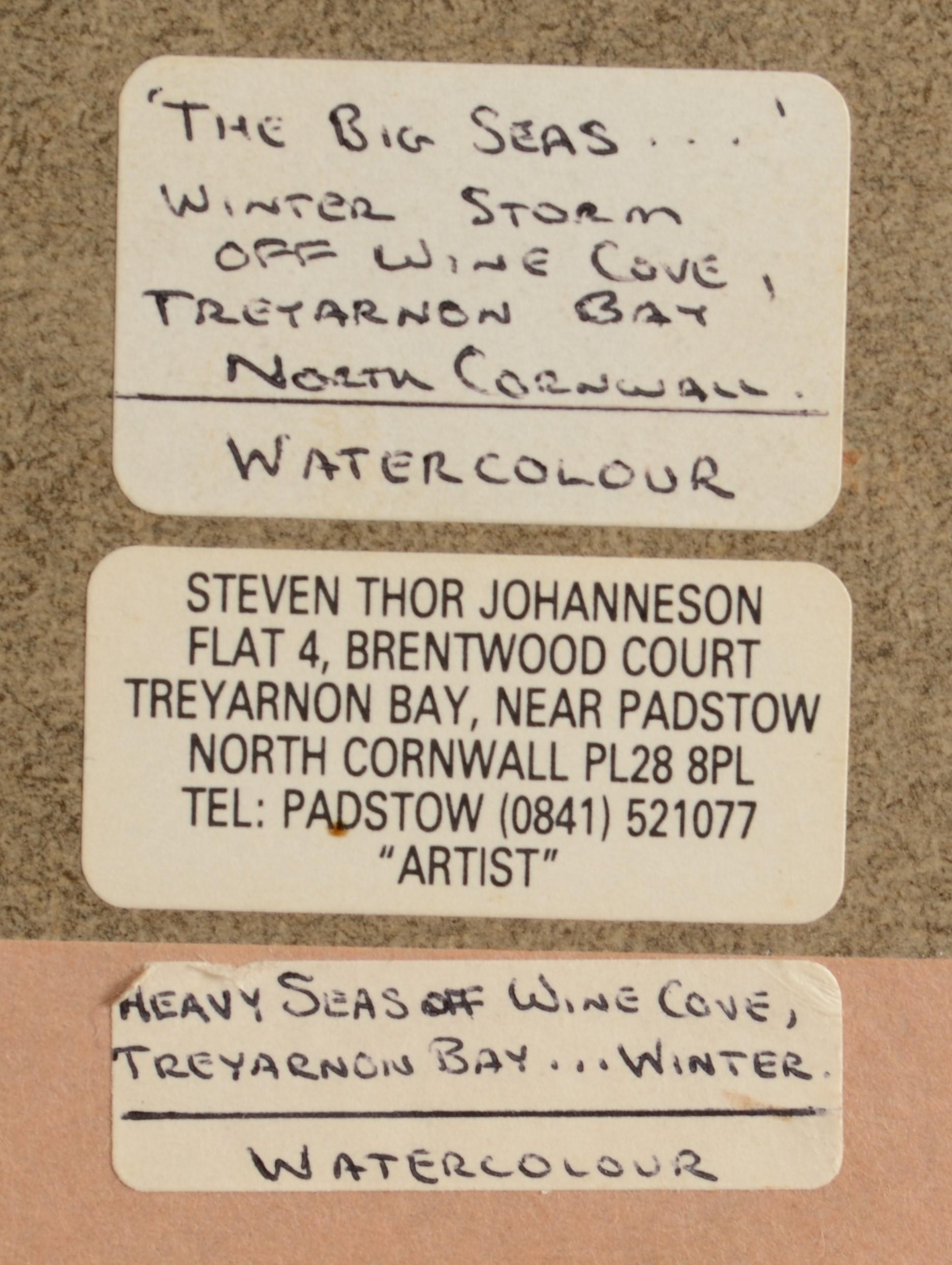 Lot 32 - STEPHEN THOR JOHANNESSON The Big Seas, Treyarnon Bay,
