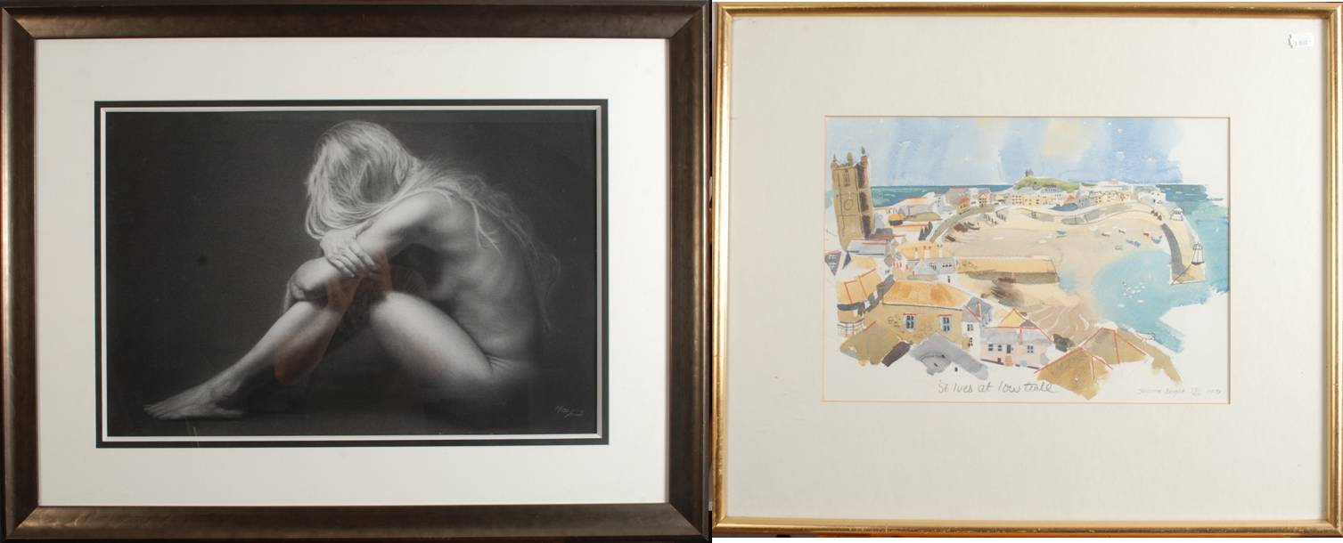 Lot 52 - DAMIR SIMIC Repose Giclee print Signed and numbered 71/195 45 x 69 cm Together with a print by