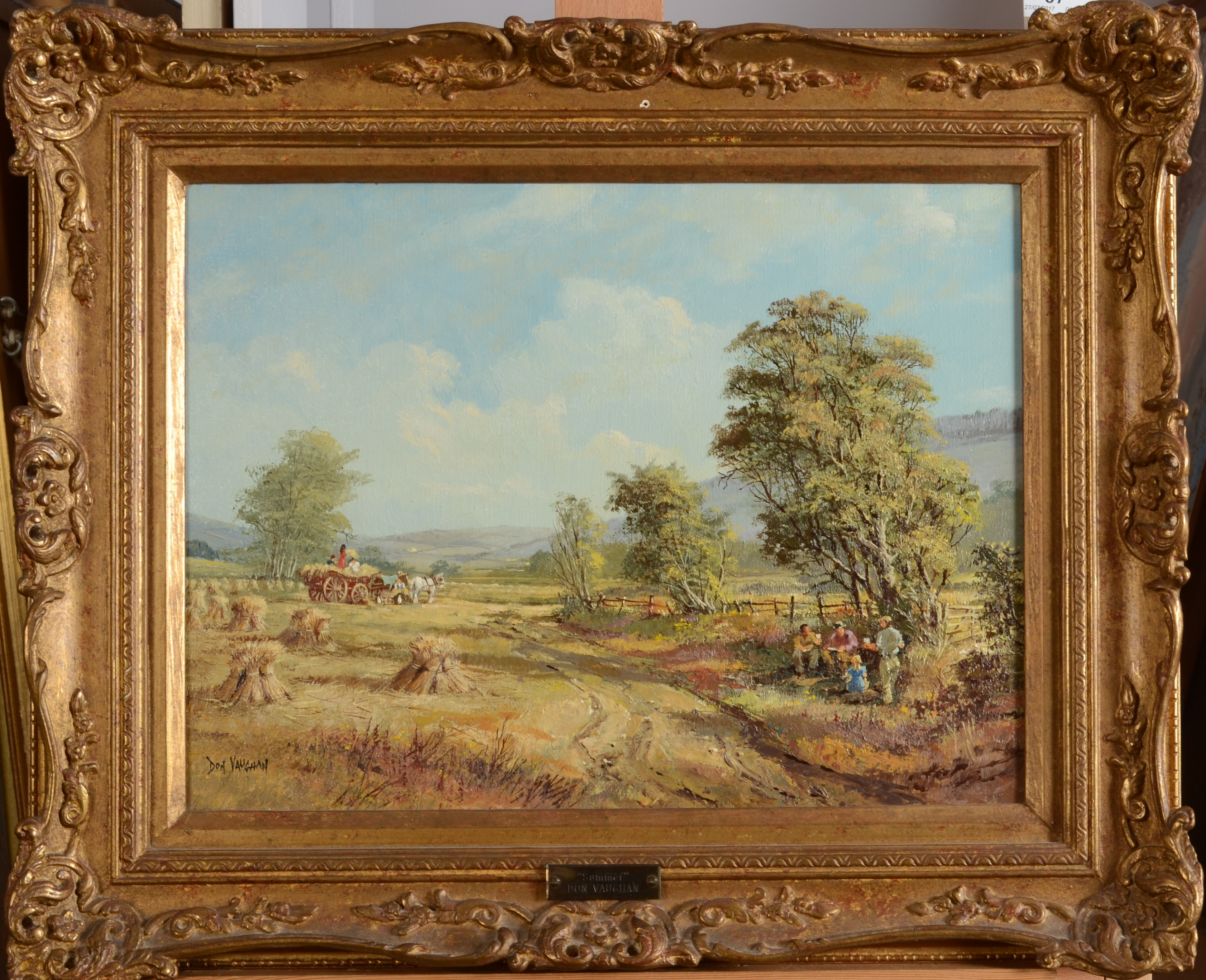Lot 37 - DON VAUGHAN Summer Oil on canvas Signed 30 x 40 cm