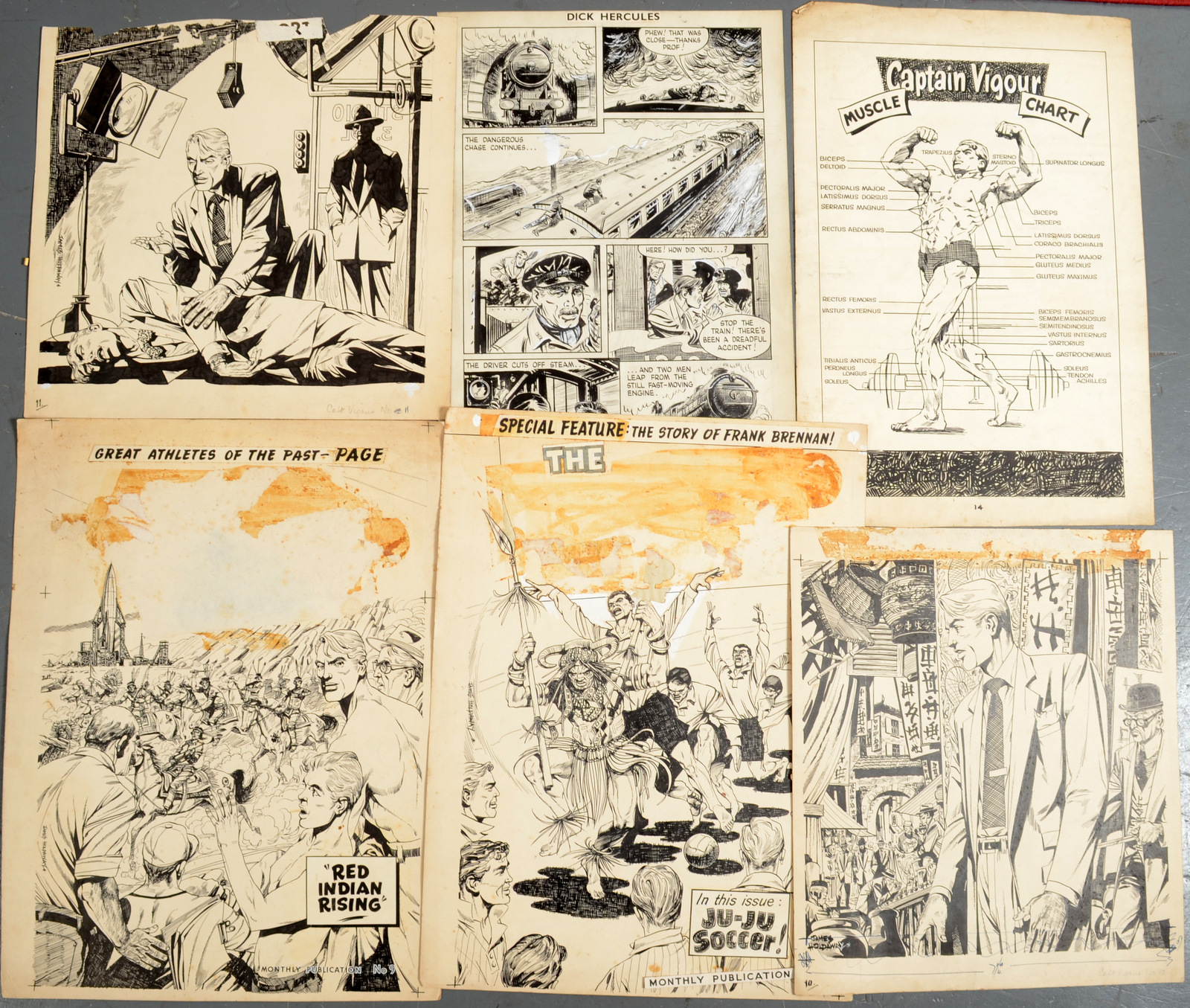Lot 16 - BAYLY-SOUSTER GROUP Artwork for various comics Including work by James Holdaway