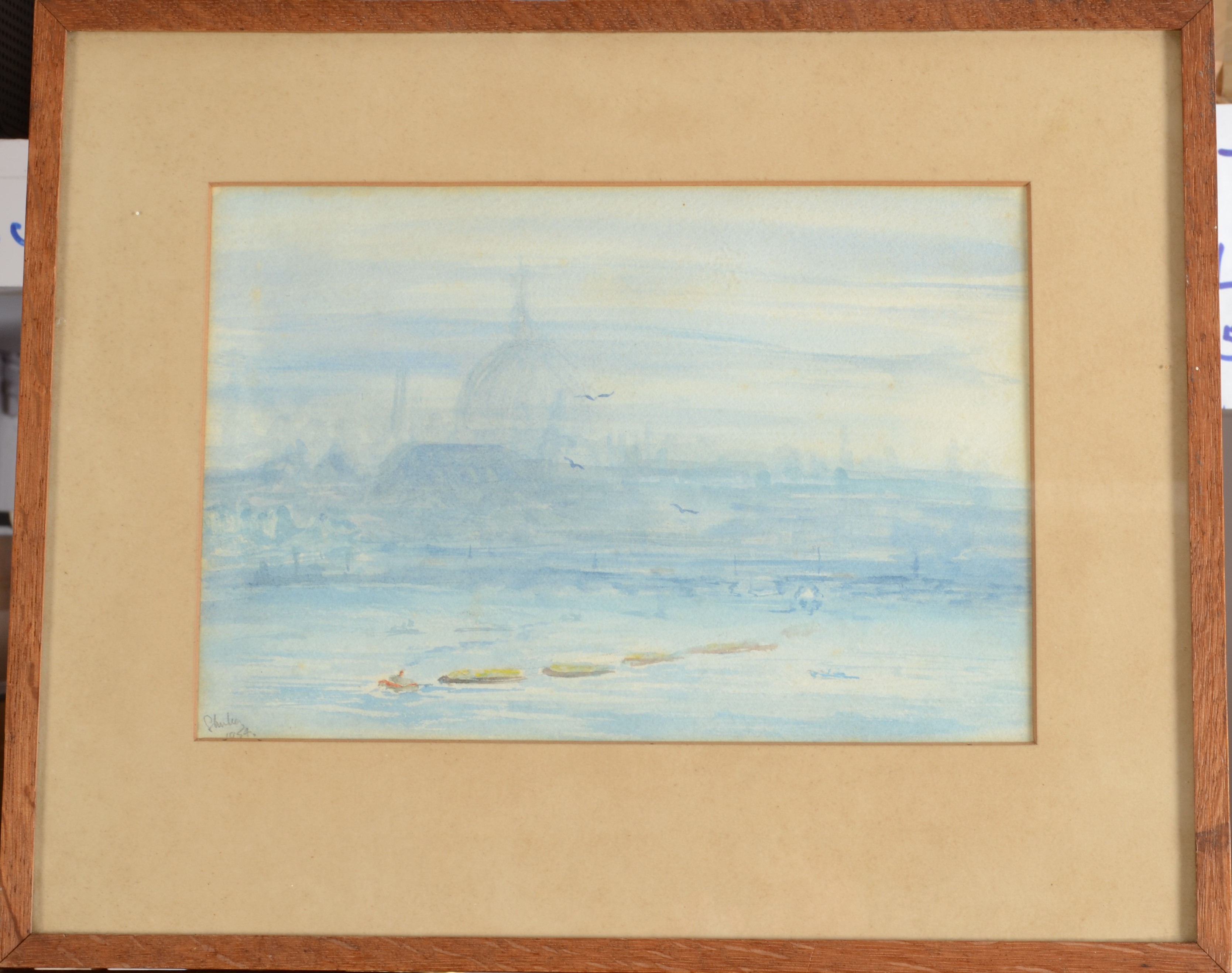 Lot 36 - J I BRERETON Truro from Treyew Watercolour Signed,