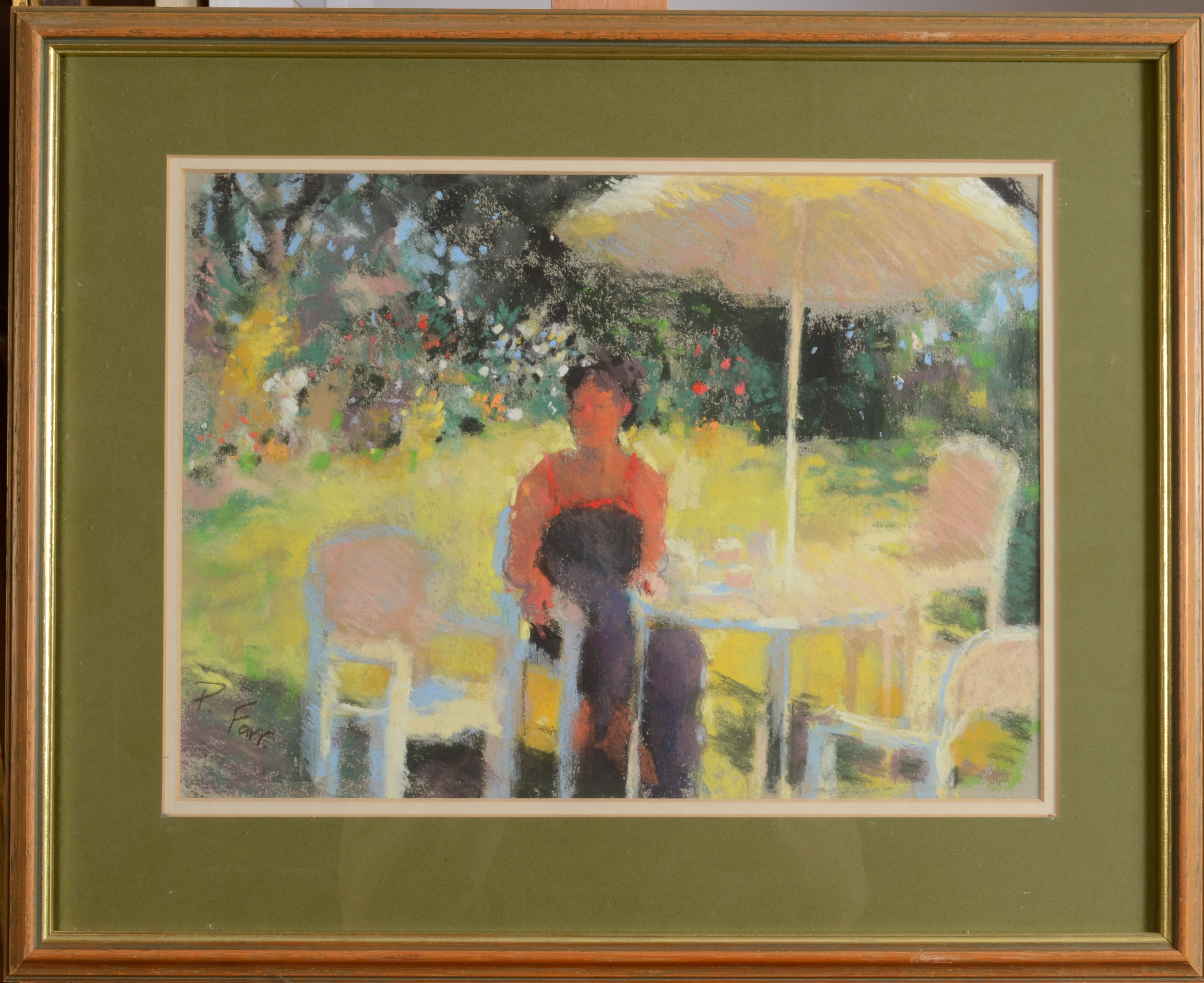 Lot 29 - PATSY FARR In a Tamar Valley Garden Pastel Signed 1987 27 x 36 cm