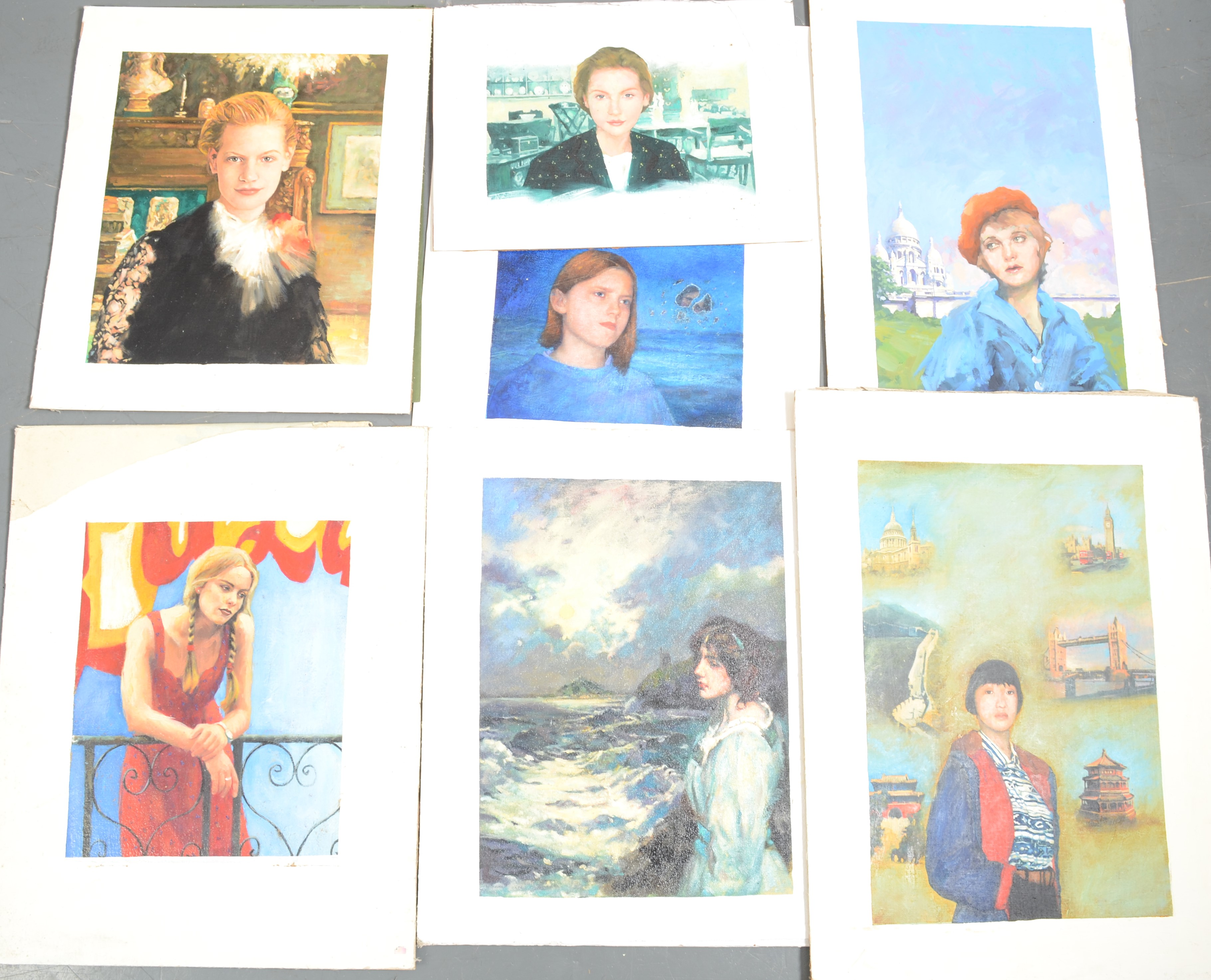 Lot 20 - Magazine Artwork Various themes Condition report: Lot 20 - These are all oils or