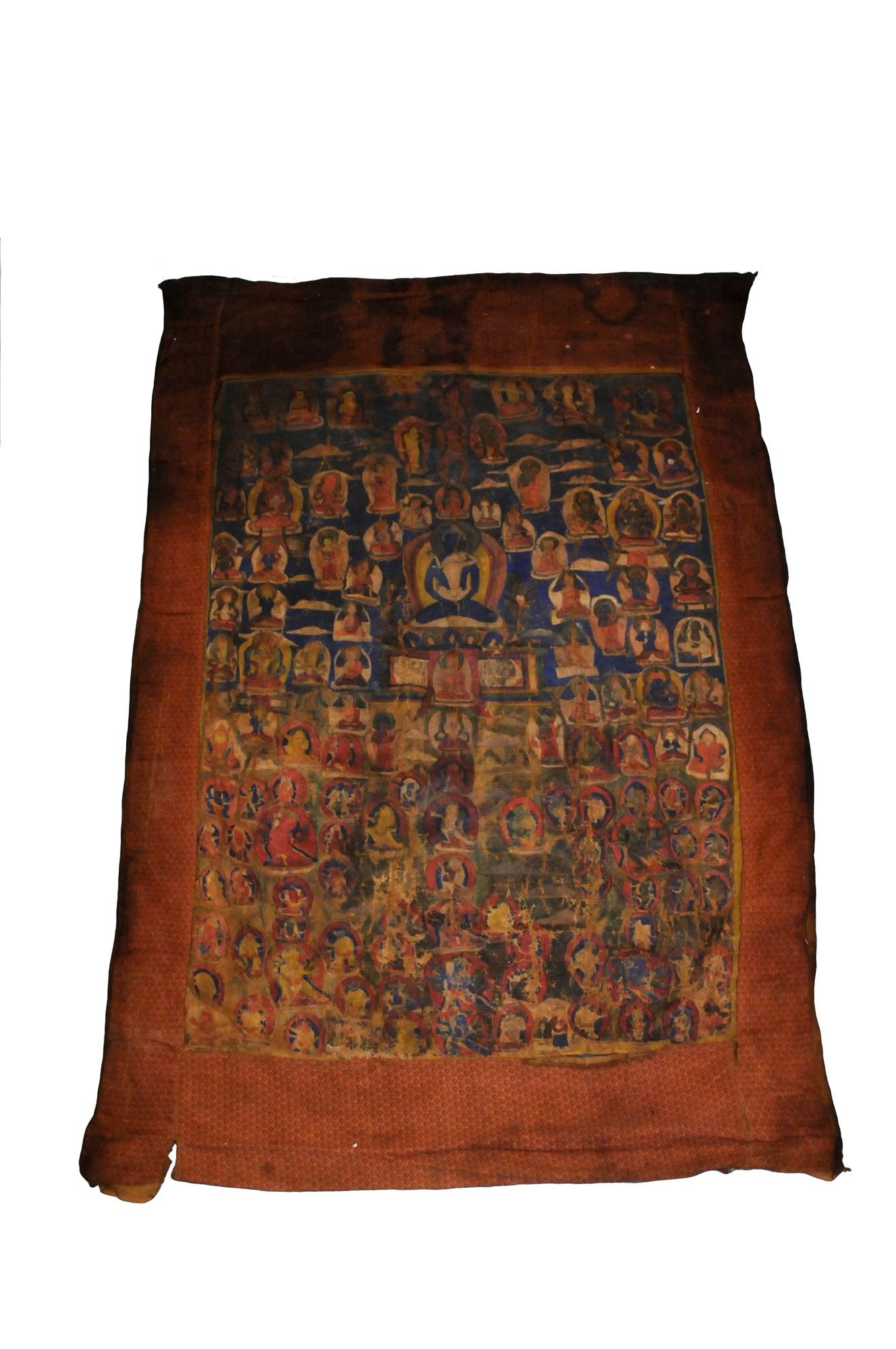 Lot 318 - A thangka of Samantabhadra and Samantabhadri, Tibet