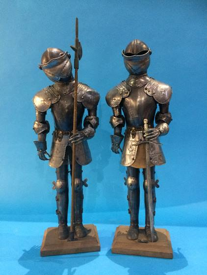 Lot 42 - A pair of mini suits of armour