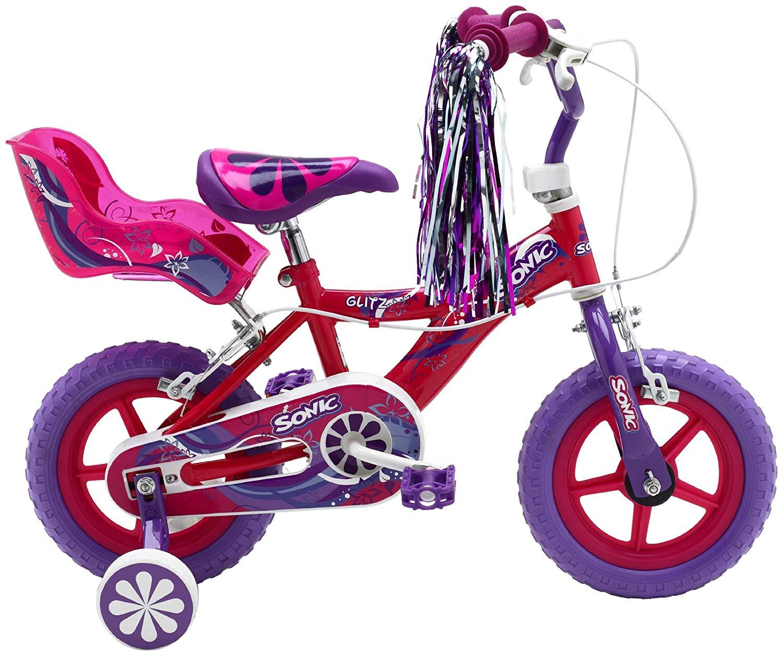 Lot 41 - Sonic Glitz Girls' 12 inch wheel Bike RRP £129.99