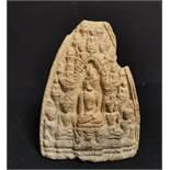 Petite stèle en terre cuite Thaïlande, Haripunchai, XIIIème siècle A décor en [...]