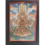 Thangka de Tsongkapa. Tibet, fin du XIXème siècle. 34 x 50 cm. Expert : Philippe [...]