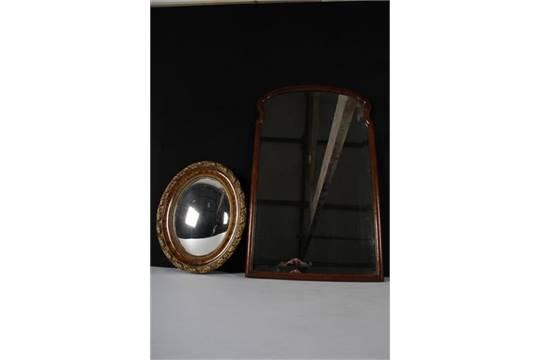 Facet Geslepen Spiegel : Facetgeslepen spiegel in queen anne eikenhouten lijst. toegevoegd