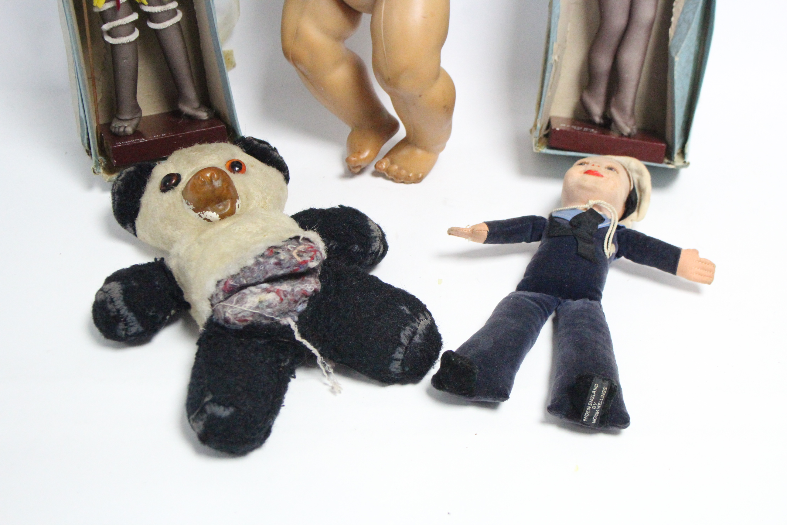 A Norah Wellings cloth sailor doll; two Brownie Downing Aboriginal stocking dolls, boxed, circa - Image 2 of 2