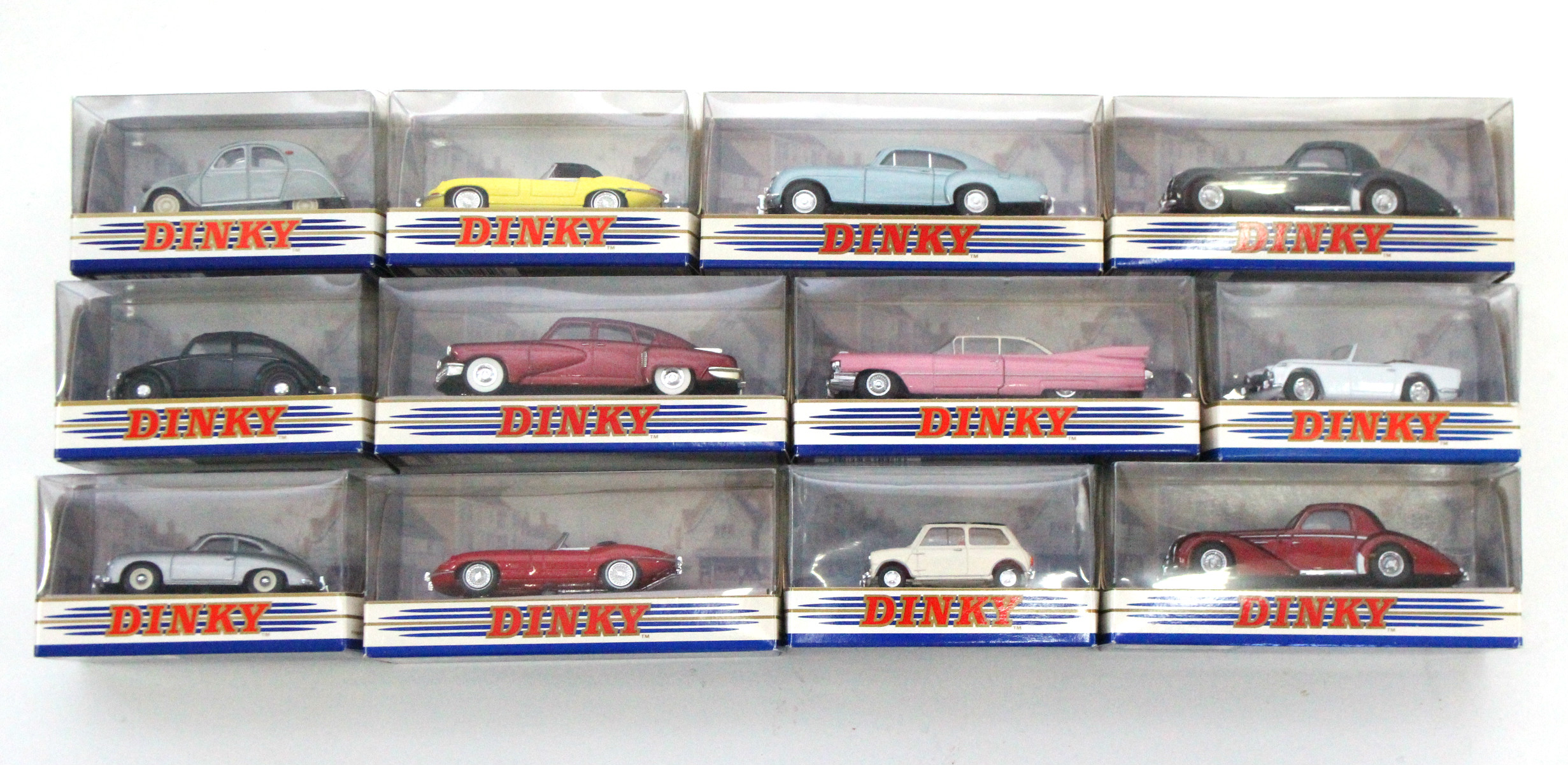 """Lot 266 - Twelve various Matchbox """"Dinky Collection"""" scale model cars, each with window box."""