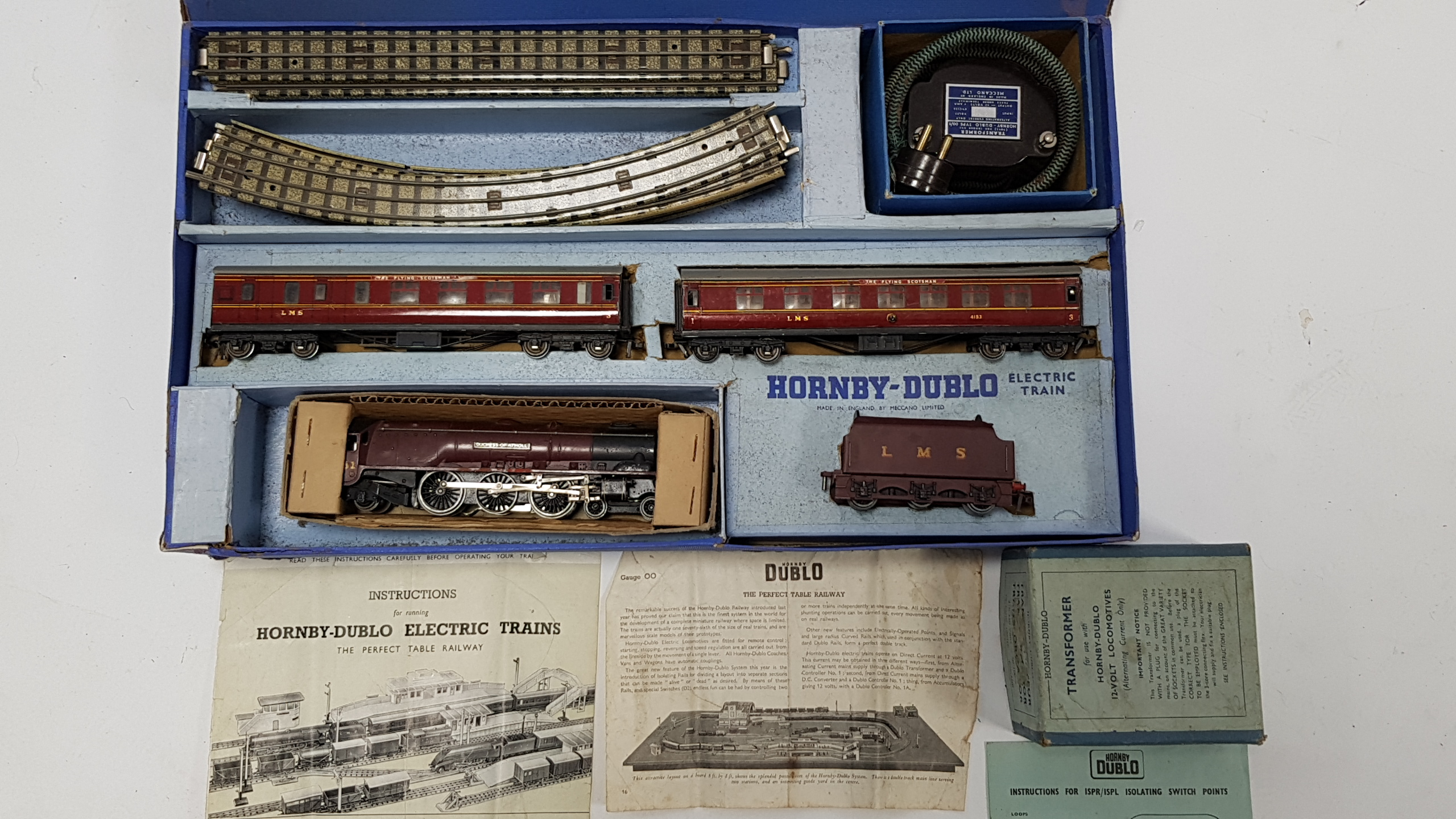 "Lot 273 - A Hornby Dublo ""OO"" gauge electric passenger train set ""Duchess of Atholl"" (EDP2), boxed."